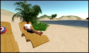 Site Editor Benjamin Duranske's Avatar 'Benjamin Noble' on the Beach