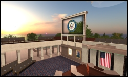 Build of U.S. House of Representatives in Second Life