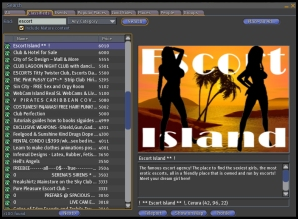 Second Life Escort Advertisement