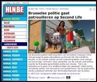 Belgian Newspaper Reporting on Alleged Virtual Rape