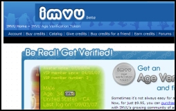 IMVU Age Verification Screenshot