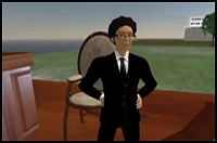 Josh Wolf as Avatar 'Jwolf Writer' Attending His Mock Trial in Second Life