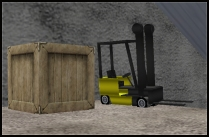 Second Life Forklift at Freebie Warehouse (Burns 103, 175, 86)