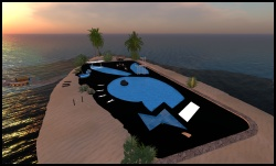Playboy Island in Second Life