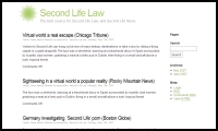 'Second Life Law' Blog