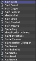 SLArt Names