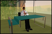 FFW Partner David Naylor's Second Life Avatar 'Solomon Cortes' During VB Interview