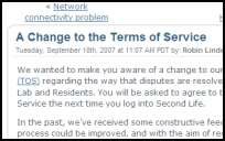 Screenshot of Post Changing TOS